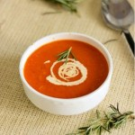 Cream of red bell pepper soup for sunshiny days