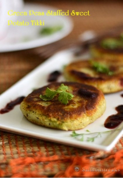 sweet potato tikki