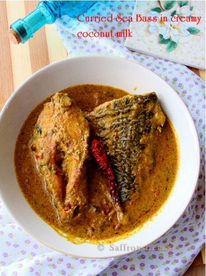 Sea Bass coconut curry