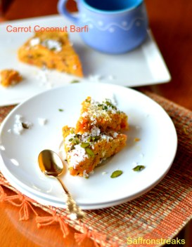 carrot coconut barfi fudge