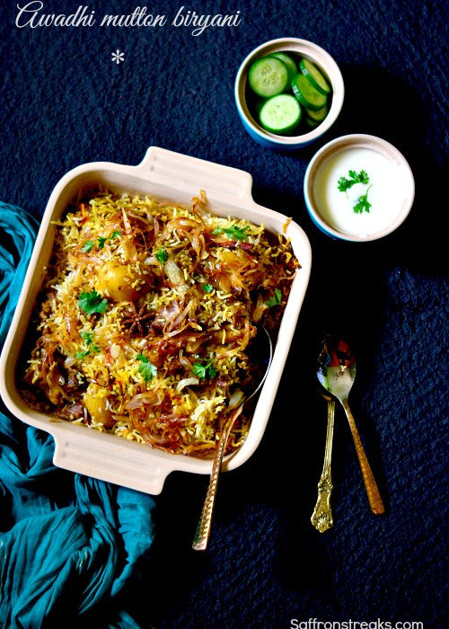 lucknowi mutton biryani recipe