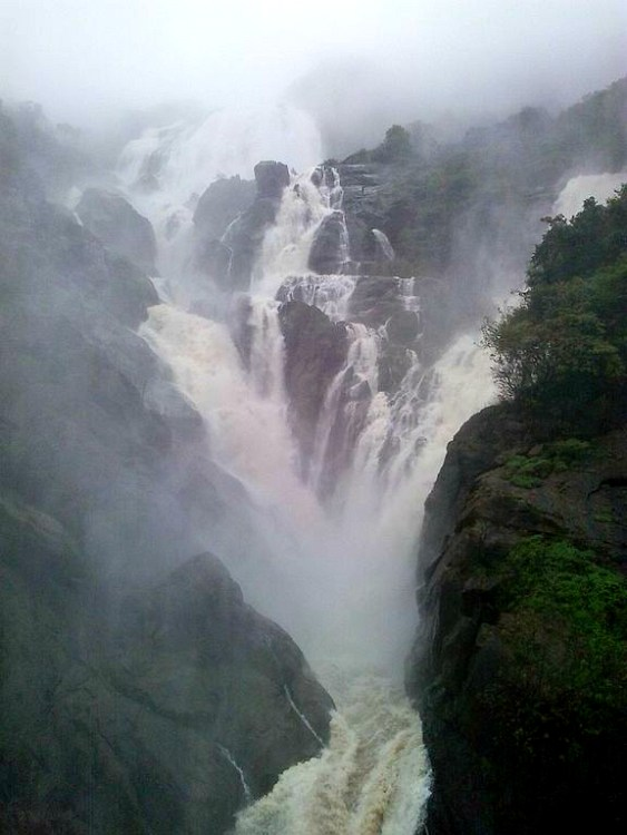 dudhsagar waterfall goa monsoon