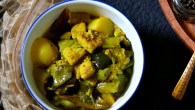 Chapor ghonto – the beautiful mish mash of seasonal vegetables seasoned with Bengali spice blend, the panch phoron, beautifully scented with cumin-ginger paste which has become a backbone for all the Bengali vegetarian dishes. Like other Bengali vegetarian dishes, this one too uses no onion and garlic in the recipe. And as I have discussed earlier in my previous posts on Bengali vegetarian dishes (aloo posto), we attributed solely this to the community of Bengali widows of yesteryears. These group […]