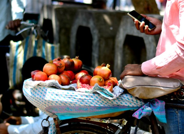 fruit seller street photography market india