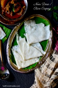 Mangalore Neer dosa rice crepes