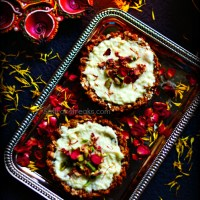 Granola tart with sitaphal (custard apple) rabdi - Diwali special