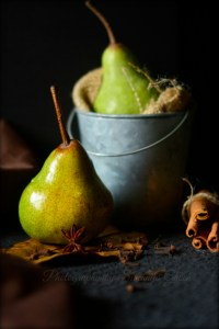 Pear food photography