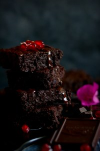 eggless gluten free chocolate fudgy brownies