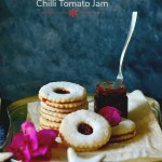 Classic Almond Linzer Cookies with Chilli Jam