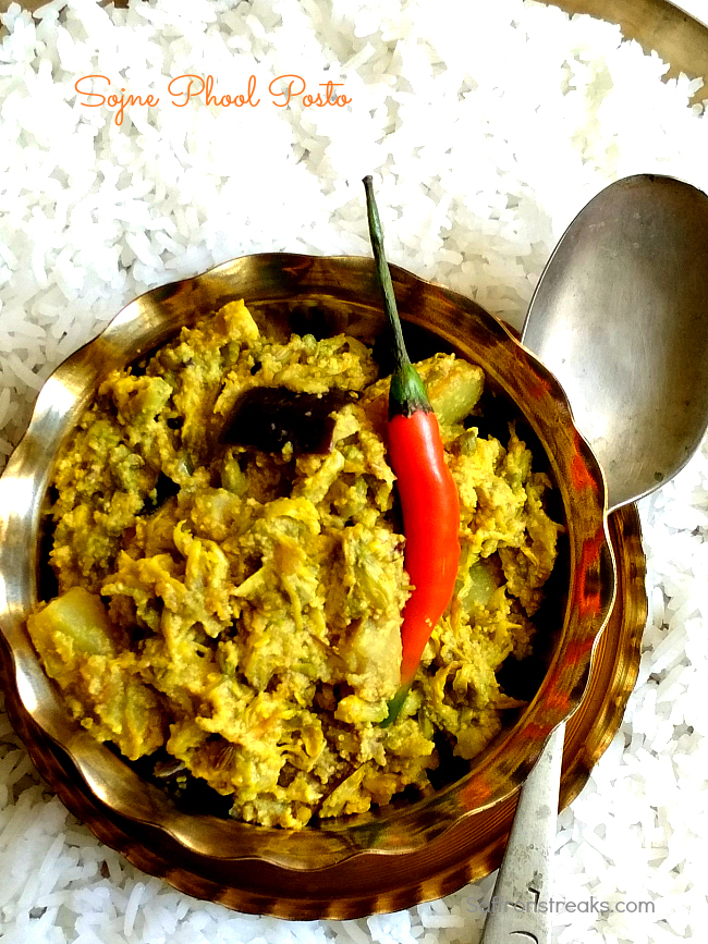 sojne phool posto moringa flower curry