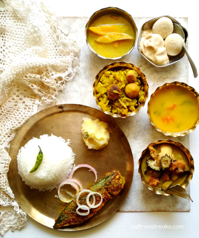 Bengali Summer Lunch Meal Series - The Essential Fish Thali