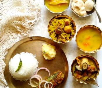 bengali summer lunch fish thali