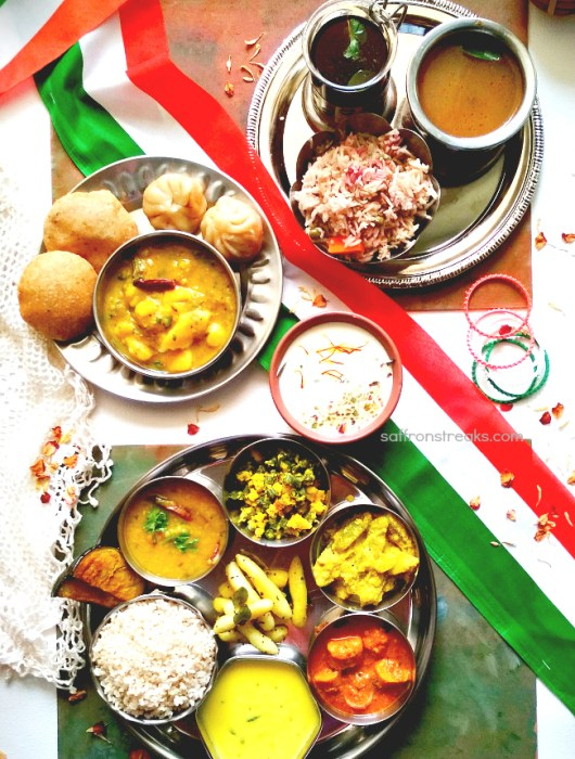 indian thali meals tiranga
