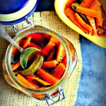 Instant Indian Carrot, Green Chilli And Fresh Turmeric Pickle