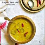 Bengali Tetor Dal Lau Diye – Summer Special Moong Dal With Bitter Gourd