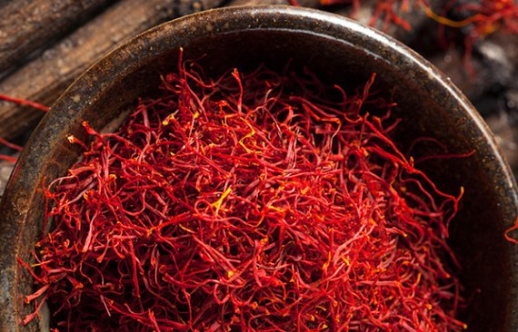 red saffron spice