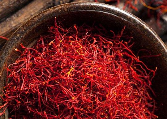 red saffron spice