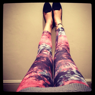 Day made: got stopped on street by #french chick who loved my galaxy leggings. Yay! #london #love #fashion #instagram #me #girl