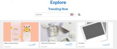 eBay explore perfume