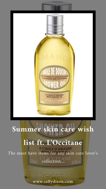 Summer skin care wish list ft. L'Occitane