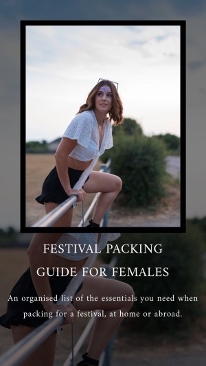 Festival packing guide for females