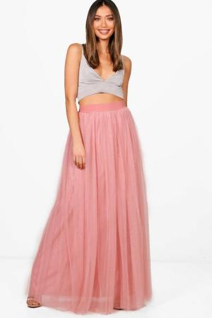 Hallie Boutique Tulle Floor Sweeping Maxi Skirt