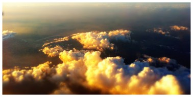 Cloudy below