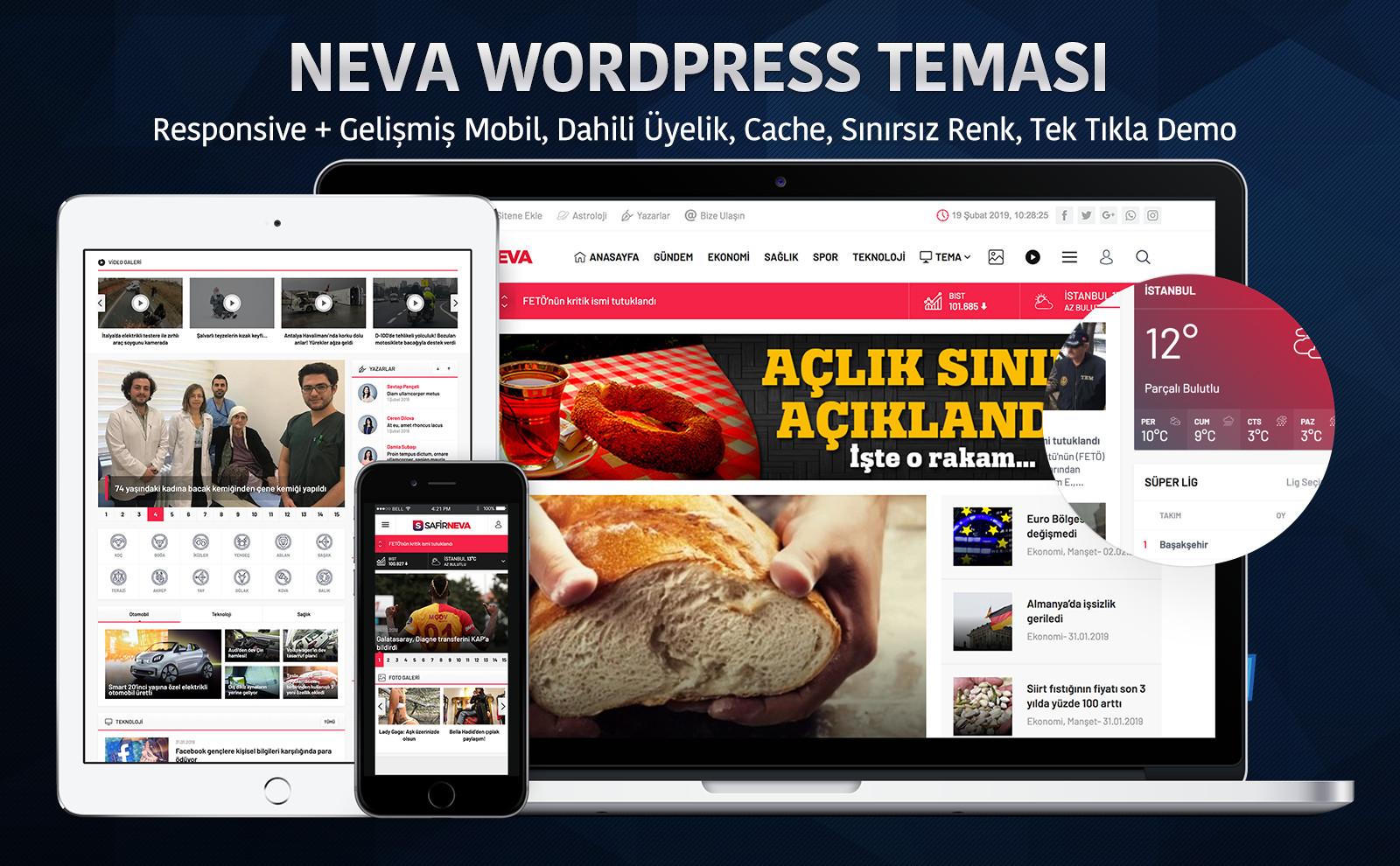 Safir Neva WordPress Teması