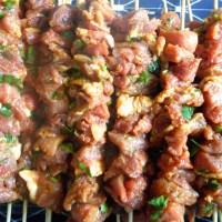 Traditionele Marokkaanse vleesspiesen (shwa/brochette)