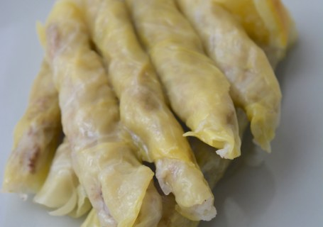 Lebanese stuffed cabbage leaves malfouf