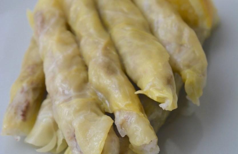 Lebanese stuffed cabbage leaves malfouf