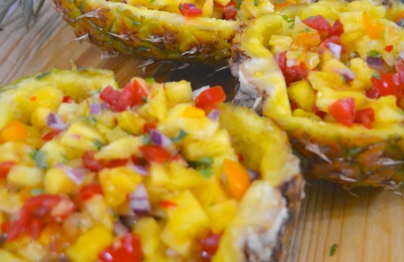 pineapple salsa ananassalsa safranaargana