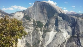 Half Dome (I like Half Dome) from the top at noon