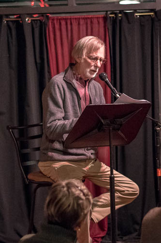 Mick reading