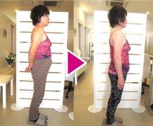 体重55.6kg→51.7kg体脂肪34.3%→29.3%