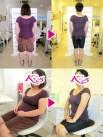 体重72.1kg→61.1kg 体脂肪率48.5%→32.2% 内臓脂肪レベル8→5