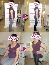体重60.5kg→52.2kg 体脂肪率33.5%→24.9% 内臓脂肪レベル7→5