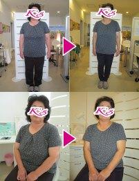 体重82.0kg→71.0kg 体脂肪率40.3%→38.2%