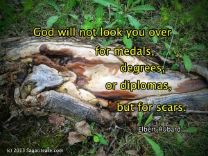 God looks for scars