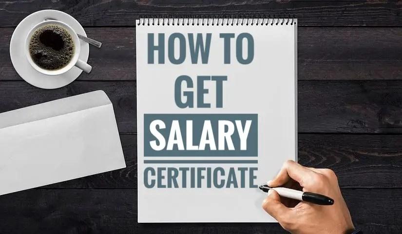 Salary Certificate format Word