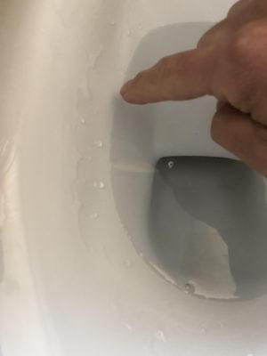 トイレ喫水線