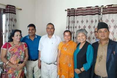 With deputy and health minister honourable Upendra yadav & Hisila Yami .