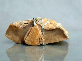 Picture Jasper, triangle shape stone necklace