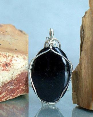 Protection talisman, black Tourmaline pendant