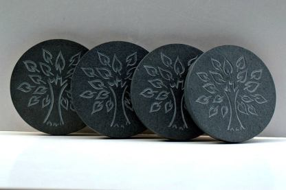 Tree of life symbol,hand carved,stone coasters
