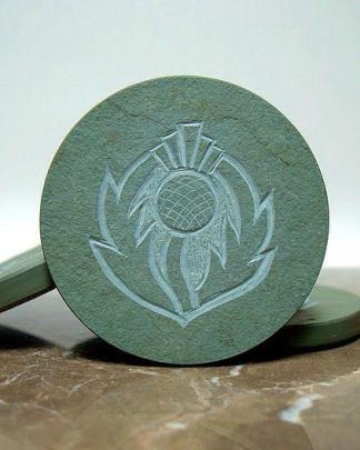 Scottish symbol,thistle design,stone coasters