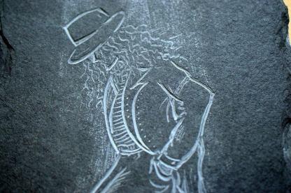 Michael Jackson stone plaque antiquated wall art