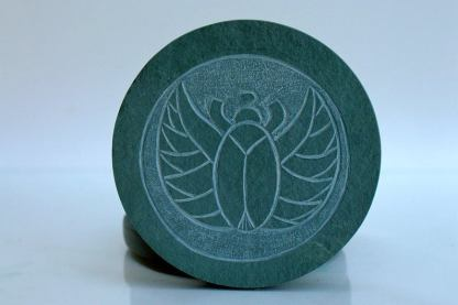 Egyptian symbol,green stone hand carved coasters