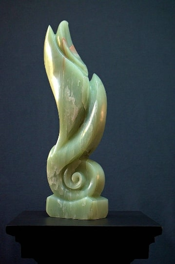 Light green Soapstone abstract