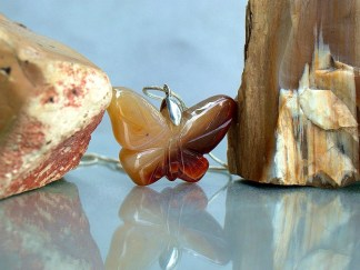agate butterfly pendant